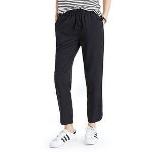 Madewell tassel tie crop track pants black XXS